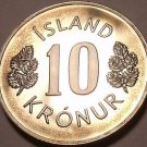 Rare Proof Iceland 1980 10 Kronur~Only 15,000 Minted~Fantastic~Free Shipping