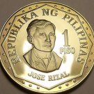 Rare Proof Philippines 1976 Piso~Only 9,981 Minted~Jose Rizal~Free Shipping