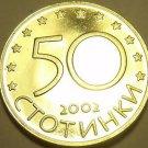 Rare Proof Bulgaria 2002 50 Stotinki~Last Year~10K Minted~Free Shipping