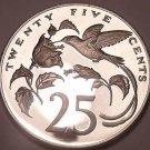 Rare Proof Jamaica 1978 25 Cents~Streamer Tailed Hummingbird~6,058 Minted~Fr/Sh~
