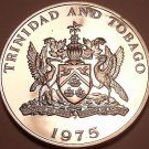 Rare Proof Trinidad & Tobago 1975 Dollar~Coerico Bird~Only 24,000 Minted~Fr/Ship