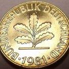 Gem Unc Germany 1981-F 10 Pfennig~Minted In Stuttgart~Free Shipping