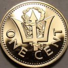 Cameo Proof Barbados 1975 Cent~Only 20,000 Minted~Lighthouse~Free Shipping