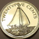 Rare Proof Bahamas 1979 25 Cents~Sailboat~Only 2.053 Minted~Awesome~Free Ship