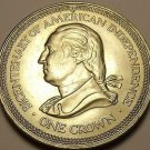 Unc Isle Of Man 1976 Crown~American Revolution Bicentennial~50,000 Minted~Fr/Shi