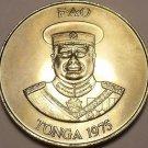 Rare Gem Unc Tonga 1975 F.A.O. PA'Anga~Only 13,000 Minted~100 Palm trees~Free Sh