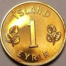 Rare Proof Iceland 1966 Eyrir~Only 15,000 Minted~Last Year Ever~Free Shipping