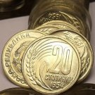 Gem Unc Roll (50 Coins) Bulgaria 1954 20 Stotinki~Fantastic~Free Shipping