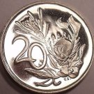 Rare Proof South Africa 1985 20 Cents~Only 9,859 Ever Minted~Protea Flower~Fr/Sh