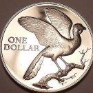 Rare Proof Trinidad & Tobago 1974 Dollar~Coerico Bird~14,000 Minted~Free Ship