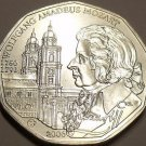 Gem Unc Silver Austria 2006 5 Euro~Mozart & The Salzburg Cathedral~Free Ship