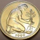 Gem Cameo Proof Germany 1999-D 50 Pfennig~Women Planting An Oak Seedling~Free Sh