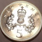 Scarce Proof Great Britain 1972 5 Pence~150,000 Minted~See Our Proof Coins~Fr/Sh
