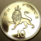Scarce Proof Great Britain 1978 10 Pence~88,000 Minted~Crowned Lion~Free Ship