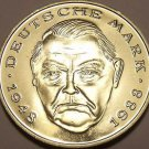Gem Cameo Proof Germany 1999-D 2 Marks~Ludwig Erhard~Only 70,000 Minted~Free Shi