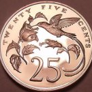 Rare Proof Jamaica 1973 25 Cents~Streamer Tailed Hummingbird~28,000 Minted~Fr/Sh