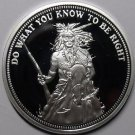 Silver Plated Cameo Proof Indian Do What You Know To Be Right Medallion~Free Shi