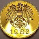 Austria 1983 Proof Set Medallion~Screaming Eagle~Free Shipping