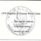 1970 Panama 6 Coin Single Page C.O.A. Document Set~Free Shipping