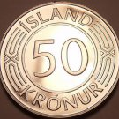 Rare Proof Iceland 1980 50 Kronur~Only 15,000 Minted~Parliment Building~Fr/Ship