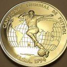 Rare Silver Proof Andorra 1993 10 Dinars~1994 World Cup Soccer In The USA~Fr/Shi