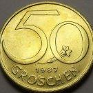 Rare Proof Austria 1987 50 Groschen~42,000 Minted~Austrian Shield~Free Shipping