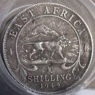 Full Roll(20) Circulated Scarce East Africa 1949 Schillings~Lion Coins~Free Ship