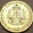 Gem Unc Haiti 1991 50 Centimes~Charlemagne Peralte National Hero~Free Shipping