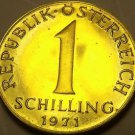 Proof Austria 1971 Schilling~82,000 Minted~Edelweiss Flower~Free Shipping