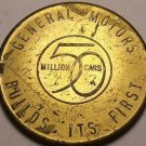 Body By Fisher General Motors 50 Million Cars Medallion~1908-1954~Scarce~Fr/shi