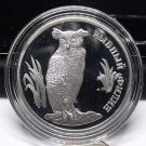 Fantasy Silver-Plated Proof Russia 1993 Rouble~Owl In Grassy Area~Free Shipping