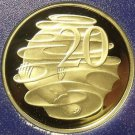 Rare Cameo Proof Australia 1983 20 Cents~80,000 Minted~Duckbill Platypus~Free Sh