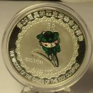 Massive Beijing 2008 Olympic Silver Plated Medallion~Cycling~Free Shipping