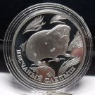 Fantasy Silver-Plated Proof Russia 1996 Rouble~Blind Mole Rat~Free Shipping