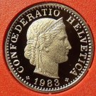 Rare Proof Switzerland 1983 10 Rappen~Only 11,000 Minted~Free Shipping