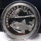Fantasy Silver-Plated Proof Russia 2005 Rouble~Volkhov Whitefish~Free Shipping