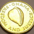 Gem Uncirulated Ghana 1984 Cedi~Excellent~Cowrie Shell~Free Shipping
