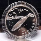 Fantasy Silver-Plated Proof Russia 2002 Rouble~Sei Whale~Free Shipping