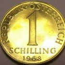 Rare Proof Austria 1968 Schilling~17,000 Minted~Edelweiss Flower~Free Shipping