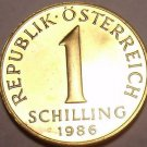 Rare Proof Austria 1986 1 Schilling~Only 42,000 Minted~Excellent~Free Shipping
