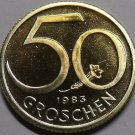 Proof Austria 1983 50 Groschen~65,000 Minted~Austrian Shield~Free Shipping
