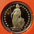 Rare Proof Switzerland 1983 Franc~Only 11,000 Minted~Helvetia~Free Shipping