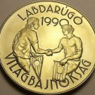 Rare Gem Unc Hungary 1989 100 Forint~World Cup Soccer~23,000 Minted~Free Ship