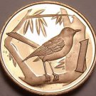Rare Proof Cayman Islands 1975 Cent~Great Cayman Thrush~Only 7,175 Minted~Fr/Shi