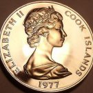 Rare Proof Cook Islands 1977 50 Cents~Bonito Fish~5,986 Minted~Free Shipping