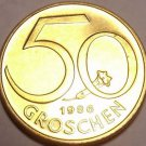 Rare Proof Austria 1986 50 Groschen~Only 42,000 Minted~Free Shipping