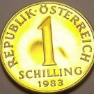 Proof Austria 1983 Schilling~65,000 Minted~Edelweiss Flower~Free Shipping