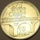 Rare Gem Unc Silver Portgal 2006 10 Euros~20th Anniversary Of Membership~Fr/Sh