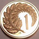 Proof New Zealand 1968 Cent~Silver Fern Leaf~Only 40,000 Minted~Free Shipping