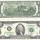 United States 2013-F Atlanta Uncirculated $2.00 Bicentennial Notes~Free Shipping